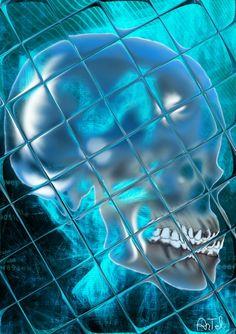 Artworks in serie: Blue Death, la seconda dopo Black Death. Come in un riflesso, come in una bolla il teschio svela cosa si cela dentro di noi. Arte digitale, effetti fotografici e sketch di base questa opera e' eccentrica e carismatica: disponibile per vendita come stampa fotografica 20x30 cm e su richiesta (chiedere quotazione) come…