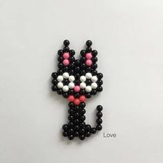Mini Hama Beads, Diy Perler Beads, Fuse Beads, Pearler Beads, Beaded Jewelry Patterns, Beading Patterns, Hamma Beads Ideas, Pearler Bead Patterns, Iron Beads