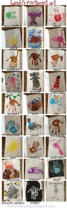 Baby Crafts For Boys Footprint Art 17 Super Ideas Abc Crafts, Daycare Crafts, Toddler Crafts, Crafts To Do, Crafts For Kids, Arts And Crafts, Daycare Rooms, Toddler Art, Alphabet Crafts