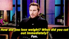 When he was very honest about how he lost weight.
