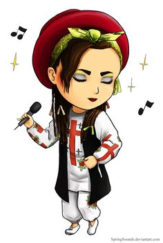 Boy George by SpringSounds on DeviantArt Boy George, Music Illustration, Illustrations, Culture Club, Beautiful Boys, Cute Drawings, Little Boys, Chibi, Disney Characters