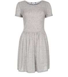 Light Grey Speckled Skater Dress