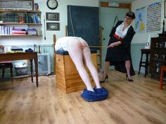 "spankedbymistress:  ""This is what happens when you don't prepare for school! You'll get caned on your bare bottom, and to make sure you really learn your lesson, I'll make it 24 of the best today! You'll count the strokes and thank me for each of them!"""