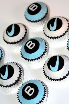 Nike Swoosh Cupcakes by Natty-Cakes (Natalie), via Flickr