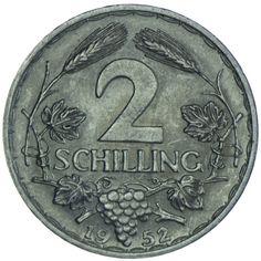 2. Republik 1945 - heute 2 Schilling 1952 Silber