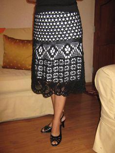 CARAMELO DE CROCHET: una falda muy especial