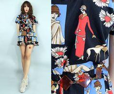 70s FLAPPER Mod ULTRA Mini Dress  Vintage by TatiTatiVintage, $58.00