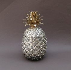 Italian Pineapple Ice Bucket - Mid Century Hollywood Regency - offered by UncommonEye