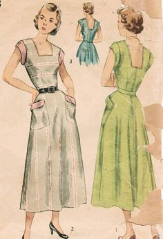 1940s Simplicity 2883 Vintage Sewing Pattern by midvalecottage