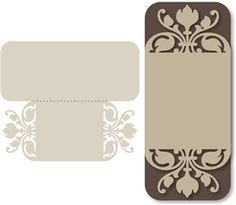 tall _fleur de lis_ card------------------------I think I'm in love with this shape from the Silhouette Online Store!