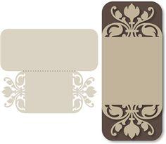 View Design: tall 'fleur de lis' card