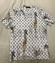 Mens Louis Vuitton Monogram Chapman Brothers Animal Print T-Shirt Sz MEDIUM