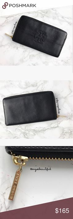 Tory Burch Black Leather Logo Continental Wallet 100% authentic Tory Burch black leather logo embossed continental wallet - 8 card slots, 2 cash slots, central zippered coin pouch & roomy central compartments- gold hardware - excellent preloved condition, very minimal to no signs of wear - measures: 7.25 inches across x 4.25 inches in height - 📎Measurements are approximate 📷 Colors may vary slightly from photos  💰Bundle for the best deal  ❌No trades, sorry. Tory Burch Bags Wallets
