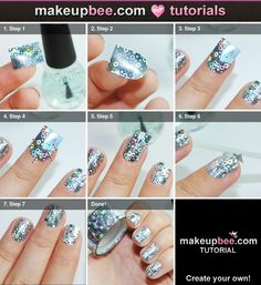 Step-By-Step #Nail #Tutorial for DIY Nail Stickers