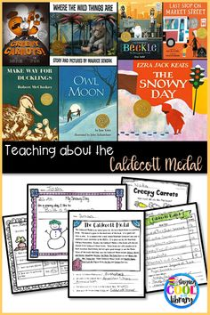 Caldecott Medal - lesson ideas, activities and free printable to teach about these award winning children's picture books.