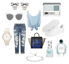"""Sereia moderna"" by loreninha1 ❤ liked on Polyvore featuring adidas Originals, Honor, Current/Elliott, Blanc & Eclare, Topshop, Clinique, Giorgio Armani and modern"
