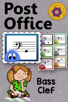 Reinforcing reading notes on the bass clef is so much fun with this Post Office resource. Easy activity to add to lesson plans! Music Teachers, Music Class, Music Mix, Music Education, Elementary Music Lessons, Piano Lessons, Office Music, Reading Notes, Music Lesson Plans