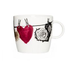 Hehku Muru mug by Lauri Tähkä Heartdesign Vallila Interior Finland Kitchen Dining, Kitchen Decor, Mugs And Jugs, Desktop Storage, Porcelain Ceramics, Malta, Old And New, Finland, Contemporary Design