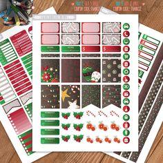 Christmas Planner Stickers Printable, Erin Condren Sticker, Monthly/Weekly Kit, Erin Condren Life Planner, Planner Stickers,Instant download by PrintThemAllStudio on Etsy