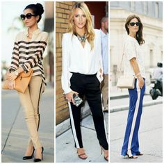 tuxedo stripe pants  http://rockwithfashion.blogspot.com.es/2014/05/tuxedo-stripe-pants-trend.html