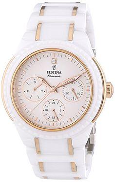 Festina – F16699/5 – Montre Femme – Quartz Analogique – Bracelet Céramique Blanc