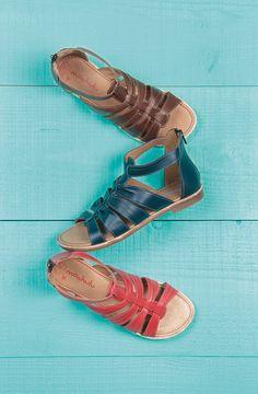 Moshulu sandals - leather gladiator sandals, Watercress! @moshulushoes