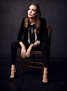 Angelina Jolie for Elle France by Art Streiber