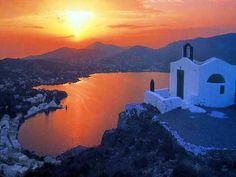 Sunset In Leros Greece