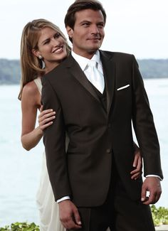 Chocolate brown tuxes!