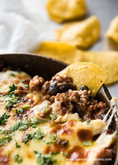 If you love Enchiladas and you love dip, then you'll LOVE this Beef Enchilada Dip! Everything you know and love about Enchiladas, in a hot bubbly dip. Made with ground beef, the secret ingredient is refried beans which makes it gorgeously creamy and dip-like. ©SpendWithPennies.com Beef Enchilada Dip Pin it to your APPETIZER BOARD toContinue Reading...
