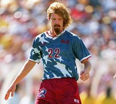 Alexi Lalas (USA)  Lalas was born in Birmingham, Michigan, United States, to a Greek father and an American mother.
