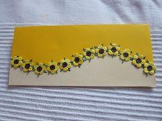 Gift envelope Paper Quilling Earrings, Paper Quilling Designs, 3d Quilling, Quilling Patterns, Quilling Cards, Fancy Envelopes, Decorated Envelopes, Handmade Envelopes, Cash Envelopes