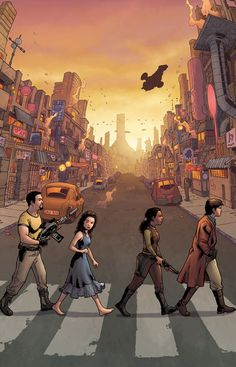 Serenity: Firefly Class - No Power in the 'Verse (Variant Cover and Solicit Art) (The Beatles' Abbey Road Album Homage) Art by: Georges Jeanty, Karl Story and Wes Dzioba Firefly Series, Firefly Art, Firefly Serenity, Firefly Quotes, Tv Series, Abbey Road, Greatest Mysteries, Mystery Minis, Joss Whedon