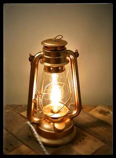 Table lamp - lantern lamp - industrial lamp - desk lamp - electric ...