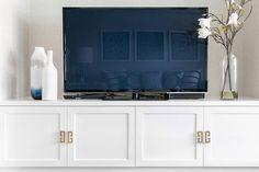 Built in tv cabinet design ideas white tv cabinet white tv units nz Low Tv Unit, Built In Tv Unit, Built In Tv Cabinet, White Tv Cabinet, Tv Cabinet Design, Tv Unit Design, Built In Cabinets, Tv Cabinets, The Unit