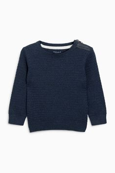 29a699ea62c4 Buy Navy Textured Crew Jumper (3mths-6yrs) from the Next UK online shop
