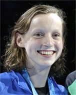 USA's youngest Olympian, 15 year old Gold Medal swimmer Katie Ledecky