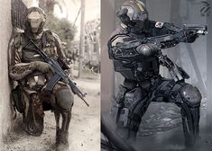 Infantry drones. by duster132 on deviantART robot robots sci-fi soldier drone android science fiction cyberpunk future