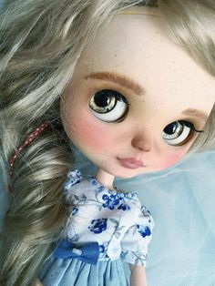 Blythe custom doll OOAK curving handmade collection pullip