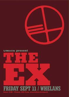 Fri 11 September - The Ex at Whelans, Dublin 11. September, Dublin, Posters, Peace, Poster, Sobriety, Billboard, World