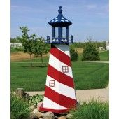 Amish Wooden Stars and Stripes Lighthouse