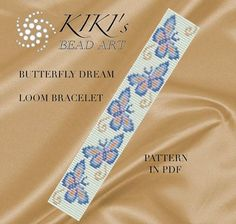 Bead loom pattern Butterfly dream LOOM bracelet por KikisBeadArts