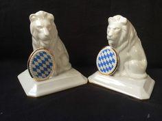 Pahr Löwe Porzellan Porzellanlöwe Bayern Schild BBB Sammlerstück Wappen