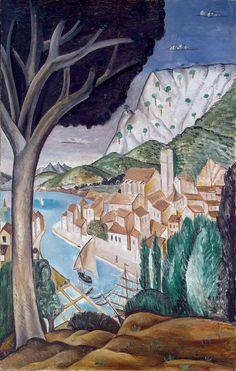 Martigues (Harbor in Provence) - Andre Derain Art Reproduction Paul Cezanne, Henri Matisse, André Derain, Fauvism Art, Maurice De Vlaminck, Raoul Dufy, Edouard Vuillard, Georges Braque, Pablo Picasso