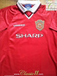 e26e6def6 Relive Manchester United s 1998 1999 European winning season with this  vintage Umbro home football shirt