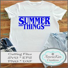 Summer Things SVG Cutting File Digital Download Summer Things, Filing, Cutting Files, Digital, Silhouette Projects