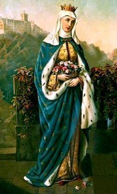 Elisabeth of Portugal, Widow Mass Propers: Wednesday of the Sixth Week after the Octave of Pentecost: Saint Withburga of Dereham; Catholic Art, Catholic Saints, Patron Saints, Roman Catholic, Saint Elizabeth Of Hungary, History Of Portugal, Portuguese Culture, Sacred Art, Noble People