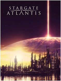 The Replicator Satellite attacks Atlantis. From First Strike. First Strike Atlantis The Lost Empire, Stargate Atlantis, Fantasy City, Sci Fi Fantasy, Hd Wallpaper Quotes, Wallpapers, Cosmos, Stargate Universe, Sci Fi Tv Shows