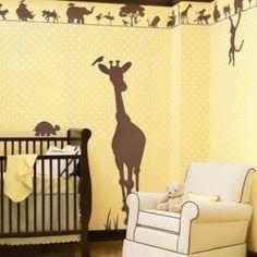 Amazing Lustige Dschungel Dekoration im Kinderzimmer u sch ne Beispiele deko babyzimmer gelb braun