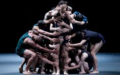 Dancers from the Batsheva Dance Company perform during rehearsals for their show 'Last Work' at the Jerusalem Theater, in Jerusalem, Israel